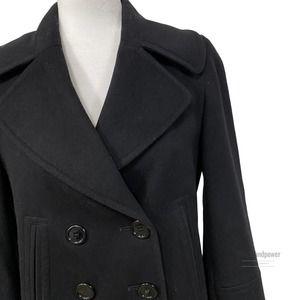 Burberry London Black Pea Coat4 PetiteEUC